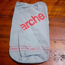 ARCHE Paris Grey Cotton Fabric Lightweight Travel Bag Backpack Shoe Dust Cover