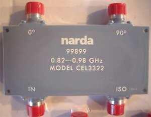 Narda CEL 3322  90-Degree Hybrid Directional Coupler 0.82-0.98 GHz 500 Watts