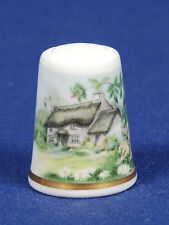 Special Office !! Royal Worcester Country Cottage China Thimble B/47