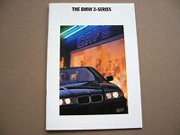 BMW OFFICIAL 325i 318i SEDAN PRESTIGE SALES BROCHURE 1992 USA EDITION