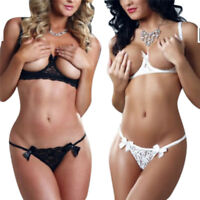 Women Lace Sexy-Lingerie Nightwear Underwear Sleepwear + G-string Lingerie S Sn