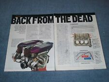 """Buick V6 Custom Race Engine Parts Info Article """"Back from the Dead"""" 265 cubes"""