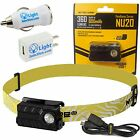 Nitecore NU20 Ultra-Light USB Rechargeable LED Headlamp 360 Lumens w/ USB Plugs