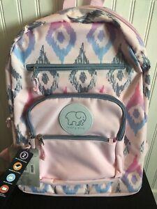 Backpack Pink Purple Ivory Ella Elephant Bag Back Pack School Laptop NEW