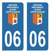 Autocollant Stickers plaque d'immatriculation département 06 Alpes-Maritimes