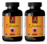 Organic Echinacea Root Extract - Boosts Immune System - Helthy Skin - 2 Bottles