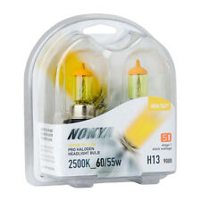 Nokya Hyper Yellow H13 9008 2500K S1 Headlight Fog Light Halogen Bulb NOK7627