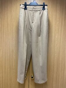 Girls/Ladies Light Brown Smart 47% Wool Trousers Size  XS From LIGHT BEFORE DARK
