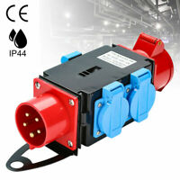 Stromverteiler Baustromverteiler CEE-Steckdose Adapter Kraftstrom Verteiler 16A