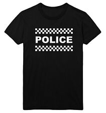 POLICE T Shirt Men Women Kids Fancy Dress Top Costume Up Outfit Idea Tee Ladies