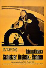 Schleizer Moto Course 1935 Moto Vélo Poster Print