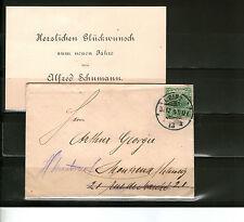 Nicht bestimmte Briefmarken aus dem deutschen Reich (1875-1899) mit Bedarfsbrief