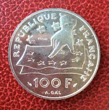 France - Rare et Superbe  ESSAI de 100 Francs 1991 - Descartes