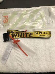 Off-White Inspired Tie Down 150cm  Nylon Industrial Yellow Belt, OFFWHITE BELT