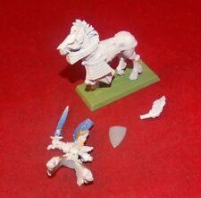 Warhammer Fantasy High Elves General On Horse Metal OOP Paint Started B