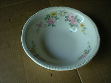 "Homer Laughlin Floral Bouquet 8 3/4"" Serving Bowl E46N8  USA  Pink Yellow Flower"