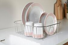 9 Pate Chrome Dish Drainer Rack Plates Cutlery Dryer Holder Small
