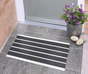 Nicoman Aluminium Barrier Dirt-Trapper Door Mat Metal Scrape Doormat 60x40cm