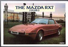 Mazda RX-7 1982-83 UK Market Sales Brochure