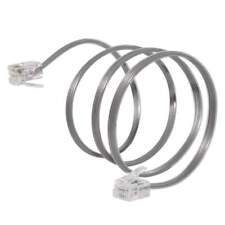 2 FT Feet RJ11 4C Modular Telephone Extension Phone Cord Cable Line Wire Satin