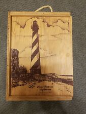 Large Cape Hatteras Wooden Hanging Wine Bottle Box