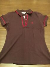 Penguin women's size Small pullover shirt Maroon