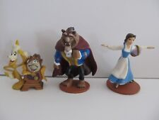 Disney Pvc Figure Lot Beauty and the Beast w Cogsworth & Lumiere