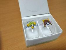 Japanese antique Di Gi Digi Charat Cute Printed Glass cup set of 2 very rare!