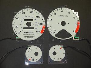 PerFormax Glow Dash Gauge Face 1994-97 Honda Accord Manual Trans EL9497AM