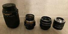 Collection Of Four Camera Lenses: Nikon, Minolta, Carenar, Vivitar