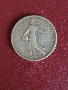 """France, 2 Francs Argent 1900, """"LA SEMEUSES"""" III République TB"""