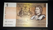 2 consecutive aUNC Australia 1982 $1 one dollar Johnston-Stone notes
