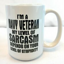 I Am Grumpy Old Navy Sarcasm - I'm A Veteran My Level Of Depends Gift Coffee Mug