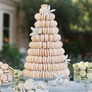 10 Tier for Round Macarons Tower Stand Macaron Display Rack Wedding Birthday hi
