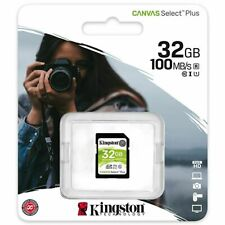 Kingston® 32GB CANVAS Select™ Plus SDHC Class 10 UHS-I 100MB/s SD Memory Card