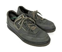 Mephisto Sport Runoff Sneaker Womens Size 8 Gray/Olive Nubuck Leather