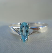 Certified Brazilian Neon Blue Paraiba Tourmaline Solitaire White Gold Ring