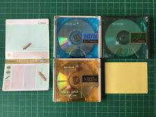 3 x MD _ Victor MD 74 Crystal MiniDisc con los depositantes-Japón