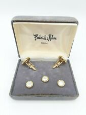Vtg Tuxedo Mother of Pearl Cuff Links & Buttons, Frederick & Nelson, Seattle