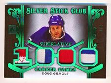 2017-18 ITG Superlative Doug Gilmour Silver Stick Club Green Quad Patch (3/7)
