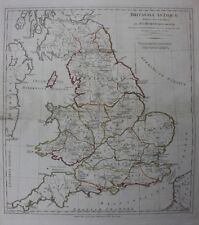 Original antique map ANCIENT ROMAN BRITAIN, BRITANNIAE ANTIQUAE, Horsley, 1794