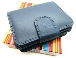 Premium Genuine Soft Leather RFID Blocking Purse Credit Card Holder Gift Boxed