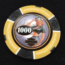 "Harley Davidson American Beauty Poker Chip/ Yellow & Black ""Dottie"""