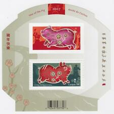 CANADA 2007 Souvenir Sheet #2202 Year of the Pig - MNH