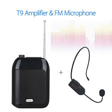 T9 Wired Voice Amplifier Loudspeaker +Wireless Microphone Speaker fr Tour Guides