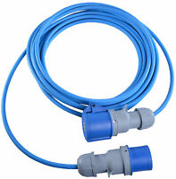10m Caravan Camping Hook Up Cable 16A Site Extension Lead Electric