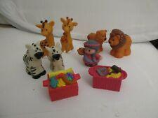 Little People Fisher Price Lot Animals Noahs Ark  9 Figures Noahs Wife-Crates