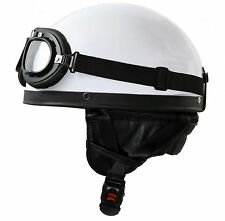Oldtimer Helm Motorradhelm Halbschale für Vespa Kreidler Zündapp NSU DKW Sachs