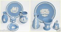 Wedgwood Blue Jasperware Vase Jug Urn Bell Ashtray Xmas Plate Covered Pot Bundle