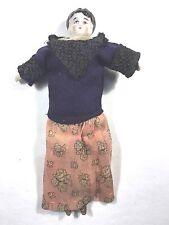 Vtg/Antique Agnes GERMAN Doll-Porcelain Head,Hands,Feet-Stuffed Body-VGC-Unique